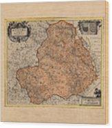 Map Of Rheims 1636 Wood Print