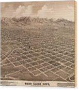 Map Of Salt Lake City 1875 Wood Print