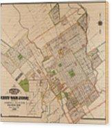 Map Of San Jose 1886 Wood Print