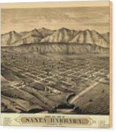 Map Of Santa Barbara 1877 Wood Print