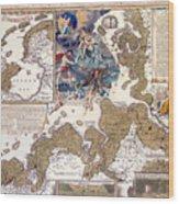 Map Of The Christmas Flood Of 1717 Wood Print