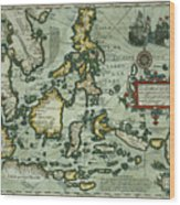 Map Of The East Indies Wood Print