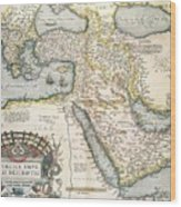 Map Of The Middle East From The Sixteenth Century Wood Print by Abraham Ortelius