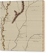 Map Of The Mississippi Riverr 1775 Wood Print