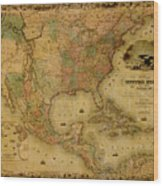 Map Of The United States 1849 Wood Print
