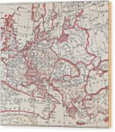 Map: Thirty Years War Wood Print