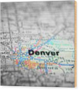 Map View For Travel To Locations And Destinations Wood Print