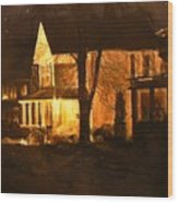 Maple Avenue Nocturne Wood Print