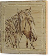 Maple Horse Wood Print