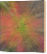 Maple Leaf Nebula Wood Print
