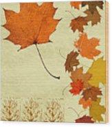 Maple Leaf Wood Print