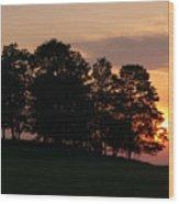 Maple Sunset Wood Print