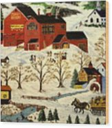 Maple Syrup Factory Wood Print