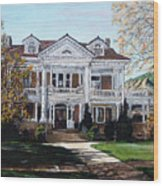 Mapleton Hill Homestead Wood Print