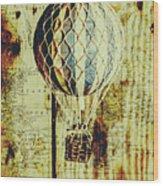 Mapping A Hot Air Balloon Wood Print