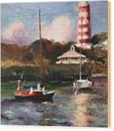 Mara Sails Hope Town Wood Print