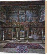 Maramures Romania Church Interior Wood Print
