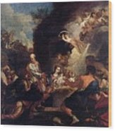 Maratti Carlo Adoration Of The Shepherds Wood Print