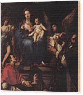 Maratti Carlo Madonna And Child Enthroned With Angels And Saints Wood Print