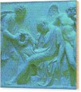 Marble Angel Relief Wood Print