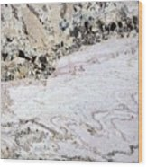 Marble Black Tan Pink Wood Print