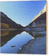 Marble Canyon Autumn Reflection Wood Print