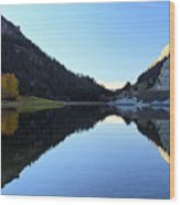 Marble Canyon Lake Reflection Wood Print