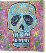 Marble Skull  Wood Print