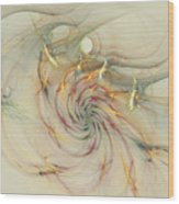 Marble Spiral Colors Wood Print
