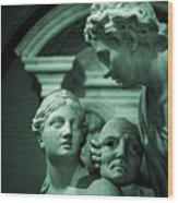 Marble Statue Catus 1 No. 2 H B Wood Print