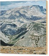 Marbled Mountains Wood Print