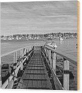Marblehead Massachusetts Dock Wood Print