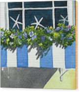 Marblehead Planter Box Wood Print