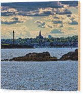 Marblehead Points To The Ocean Wood Print