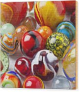 Marbles Close Up Wood Print