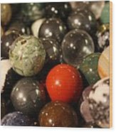 Marbles Wood Print