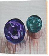 Marbles Of My Reflection Wood Print
