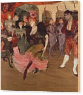 Marcelle Lender Dancing The Bolero In Chilperic Wood Print by Henri de Toulouse Lautrec