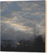 March Clouds In Dawn Sky Wood Print