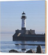 March Lghthouse Wood Print
