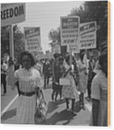 March On Washington. African Americans Wood Print