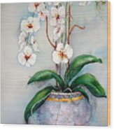 March Orchids Wood Print