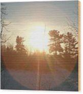 March Sunrise Circle Wood Print