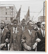 March Through Selma Wood Print