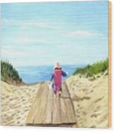March To The Beach Wood Print