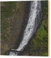 March Waterfall Wood Print