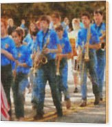 Marching Band - Junior Marching Band  Wood Print by Mike Savad