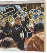 Marching Band Brass Wood Print