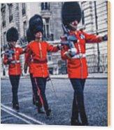 Marching Grenadier Guards Wood Print