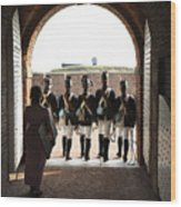 Marching Off On Detail At Fort Mchenry Wood Print